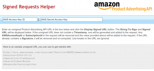 The AWS Signed Request Helper is your friend